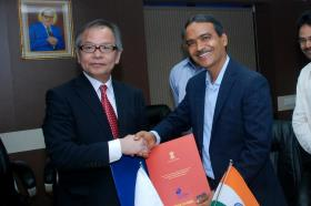 Action Plan signing ceremony by Mr. Koyanagi, Deputy Commissioner and Shri O.P. Gupta, Controller General