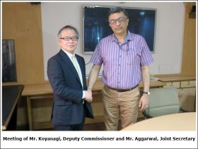 Meeting of Mr. Koyanagi, Deputy Commissioner and Mr. Aggarwal, Joint Secretary