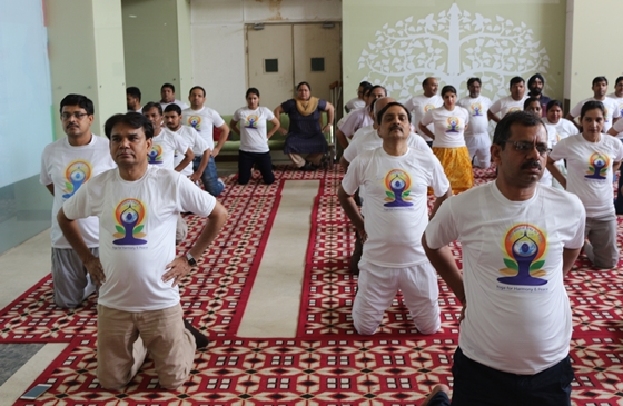 A celebration of International Yoga day 21 June 2018 of Offices under CGPDTM