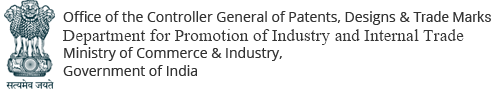 Office of the Controller General of Patents, Designs & Trademarks, Department of Industrial Policy & Promotion, Ministry of Commerce & Industry, Government of India